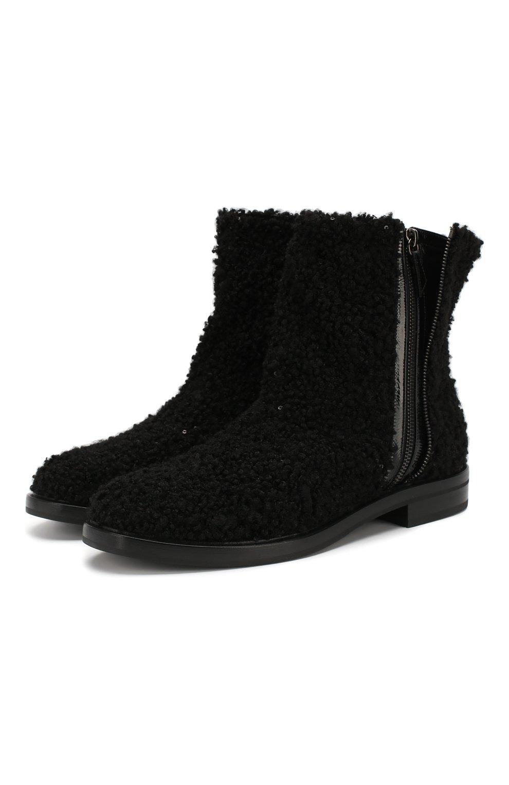 Женские текстильные ботинки CASADEI черного цвета, арт. 1R112N0201T00249000 | Фото 1