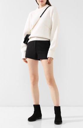 Женские текстильные ботинки CASADEI черного цвета, арт. 1R112N0201T00249000 | Фото 2
