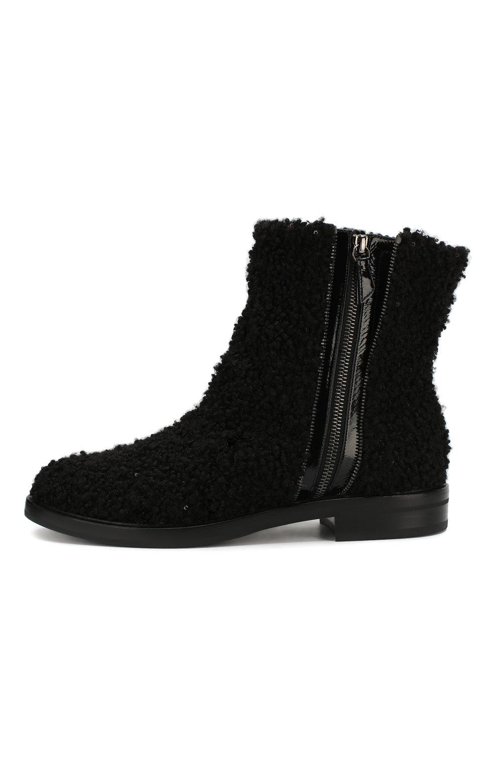 Женские текстильные ботинки CASADEI черного цвета, арт. 1R112N0201T00249000 | Фото 3