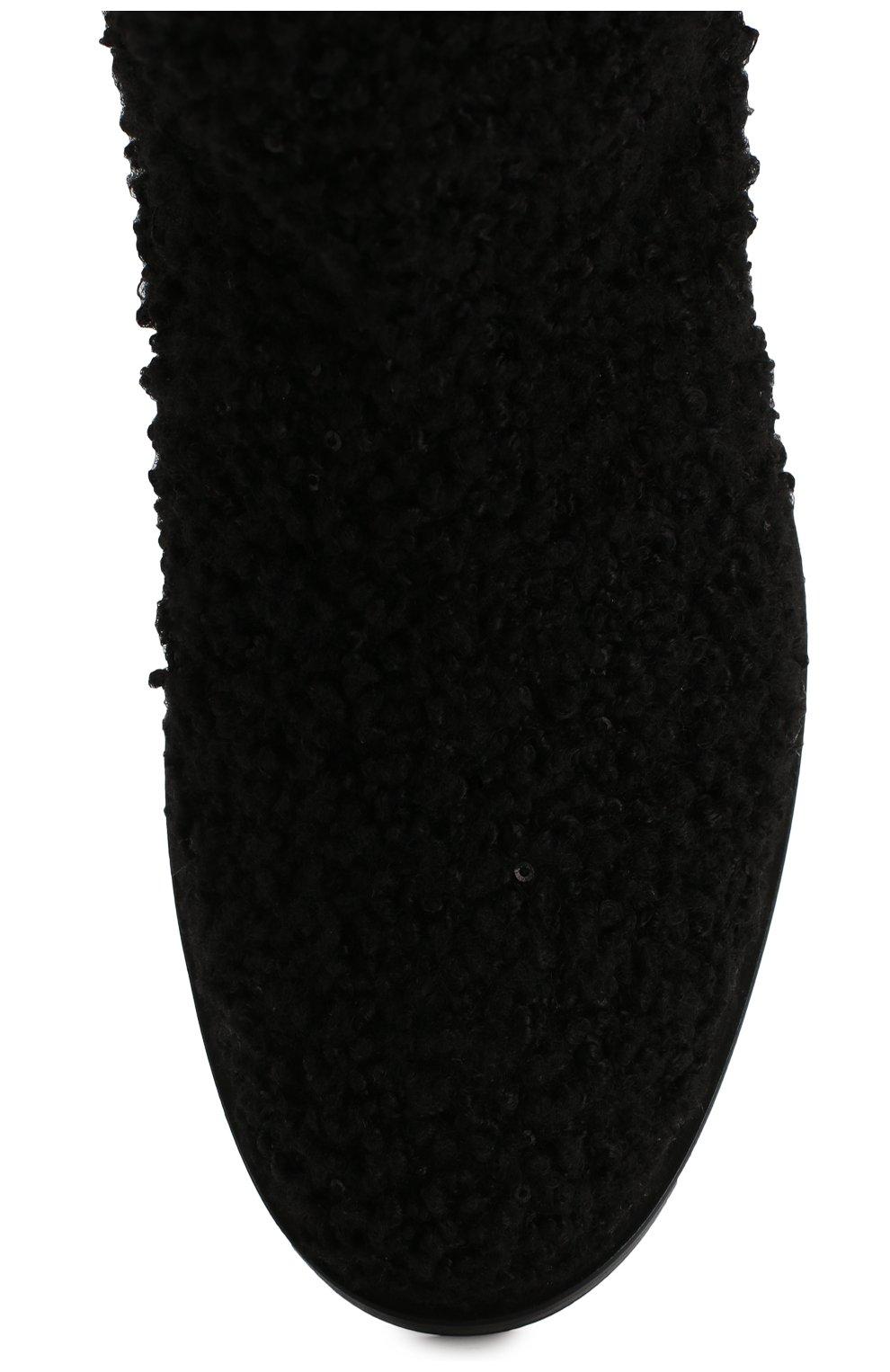 Женские текстильные ботинки CASADEI черного цвета, арт. 1R112N0201T00249000 | Фото 5
