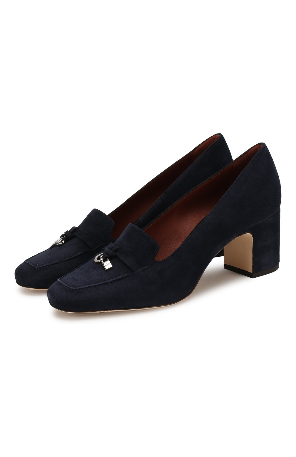 Женские замшевые туфли summer charms LORO PIANA темно-синего цвета, арт. FAI7081 | Фото 1