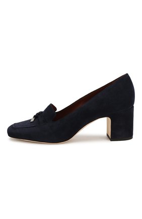 Женские замшевые туфли summer charms LORO PIANA темно-синего цвета, арт. FAI7081 | Фото 3