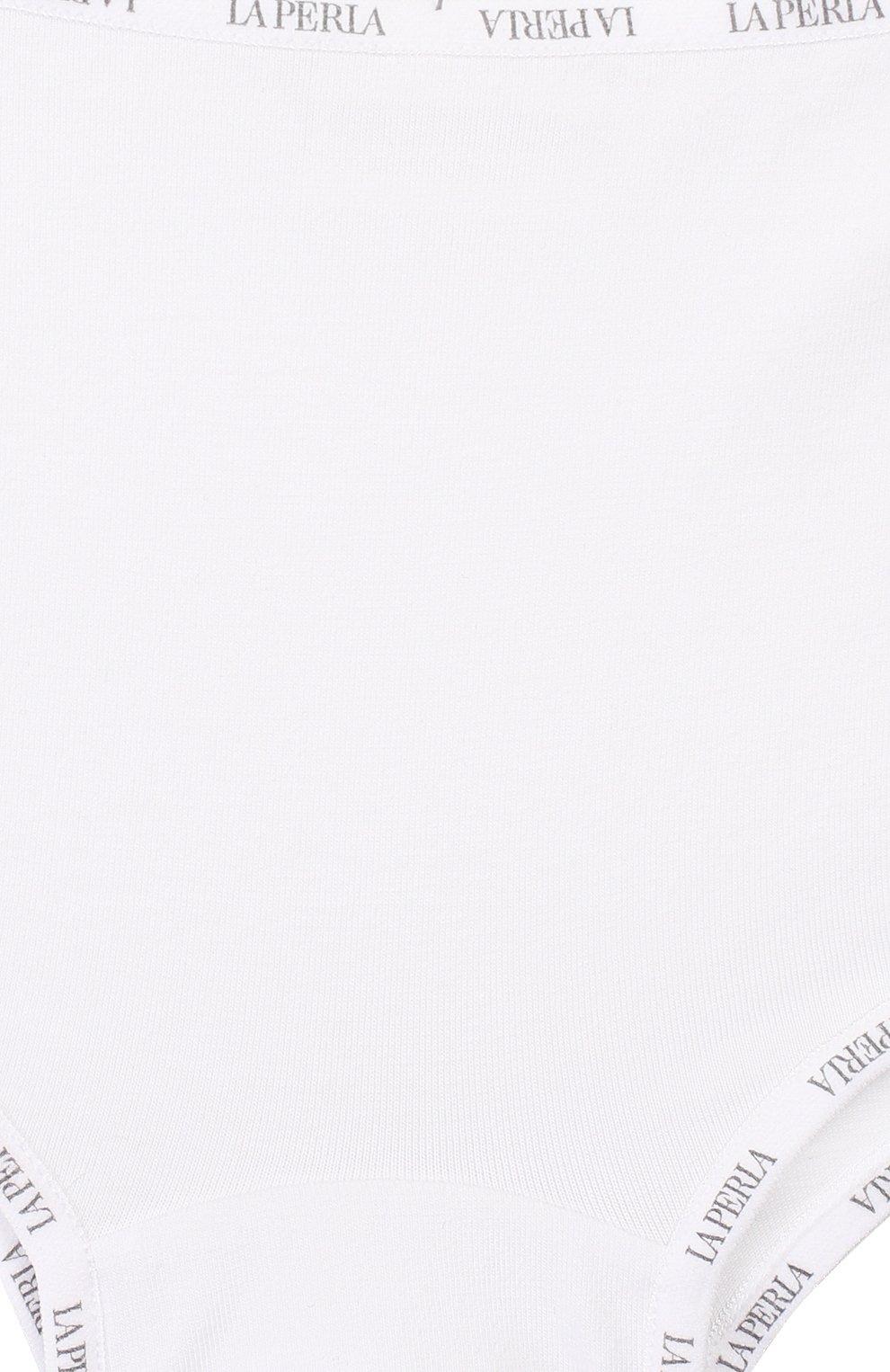 Детские хлопковые трусы LA PERLA белого цвета, арт. 51307/2A-8A   Фото 3