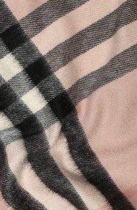 Мужские кашемировый шарф BURBERRY розового цвета, арт. 8015525 | Фото 2