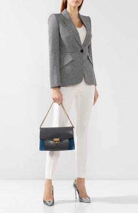 Женская сумка gv3 medium GIVENCHY серого цвета, арт. BB501DB033   Фото 2