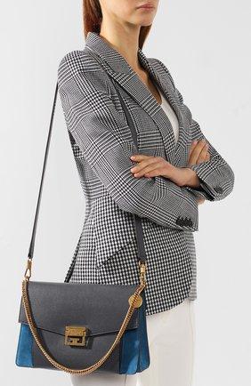 Женская сумка gv3 medium GIVENCHY серого цвета, арт. BB501DB033   Фото 5