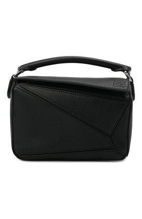 Женская сумка puzzle mini LOEWE черного цвета, арт. 322.30.U95 | Фото 1