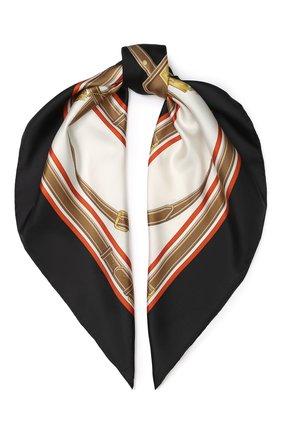 Женский шелковый платок BURBERRY черного цвета, арт. 8016201 | Фото 1