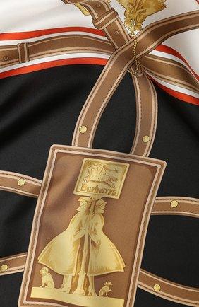 Женский шелковый платок BURBERRY черного цвета, арт. 8016201 | Фото 2