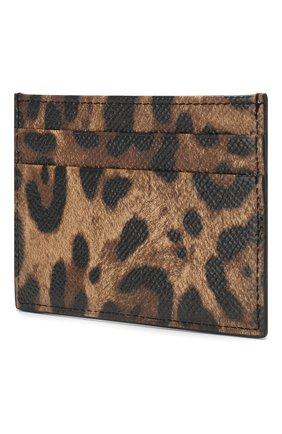 Женский кожаный футляр для кредитных карт DOLCE & GABBANA коричневого цвета, арт. BI0330/AI915 | Фото 2