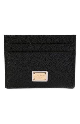 Женский кожаный футляр для кредитных карт DOLCE & GABBANA черного цвета, арт. BI0330/A1001 | Фото 1