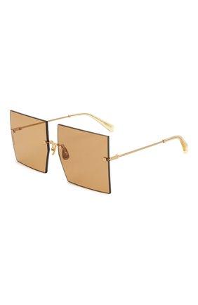 Женские солнцезащитные очки JACQUEMUS коричневого цвета, арт. LES CARRES BR0WN | Фото 1