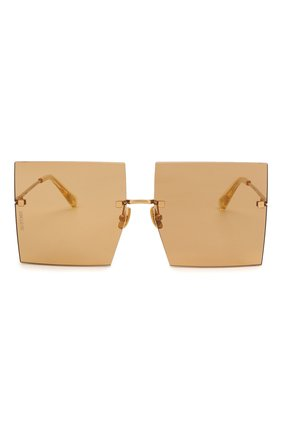 Женские солнцезащитные очки JACQUEMUS коричневого цвета, арт. LES CARRES BR0WN | Фото 3