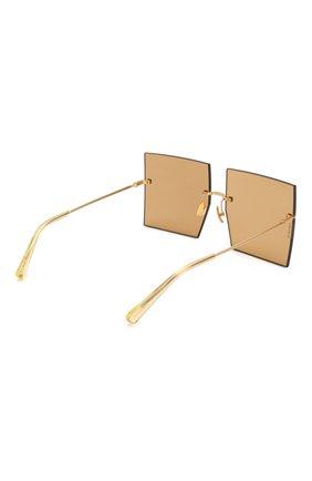 Женские солнцезащитные очки JACQUEMUS коричневого цвета, арт. LES CARRES BR0WN | Фото 4