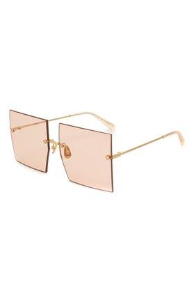 Женские солнцезащитные очки JACQUEMUS розового цвета, арт. LES CARRES 0RANGE | Фото 1