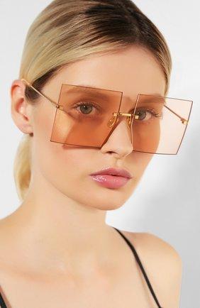 Женские солнцезащитные очки JACQUEMUS розового цвета, арт. LES CARRES 0RANGE | Фото 2