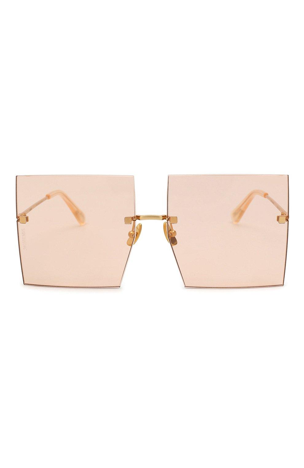 Женские солнцезащитные очки JACQUEMUS розового цвета, арт. LES CARRES 0RANGE | Фото 3