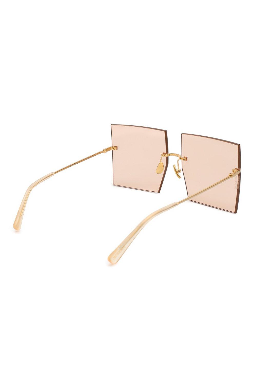 Женские солнцезащитные очки JACQUEMUS розового цвета, арт. LES CARRES 0RANGE | Фото 4