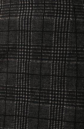 Женская хлопковая юбка BOSS черно-белого цвета, арт. 50414428   Фото 5