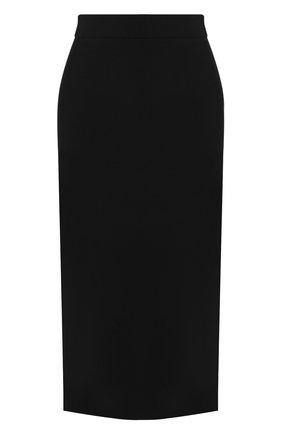 Женская хлопковая юбка BOSS черного цвета, арт. 50414346 | Фото 1
