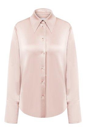 Женская блузка NANUSHKA бежевого цвета, арт. MANDINE_HIMALAYAN SALT_SLIP SATIN | Фото 1