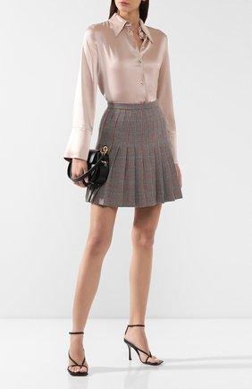 Женская блузка NANUSHKA бежевого цвета, арт. MANDINE_HIMALAYAN SALT_SLIP SATIN | Фото 2