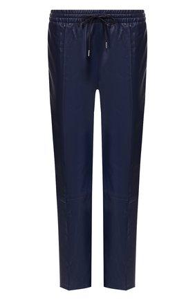 Женские кожаные брюки JOSEPH темно-синего цвета, арт. JF003502 | Фото 1