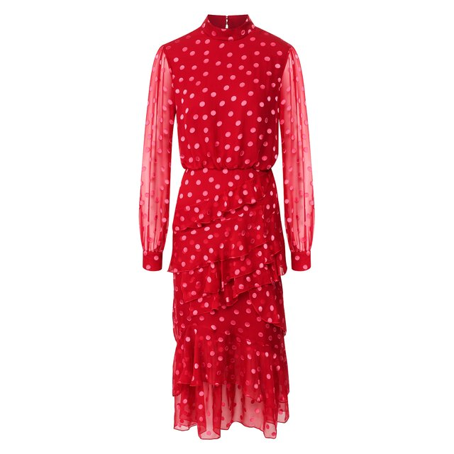 Платье из смеси шелка и вискозы Saloni