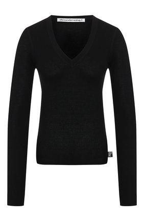 Женская шерстяной пуловер ALEXANDERWANG.T черного цвета, арт. 4KC2191076 | Фото 1