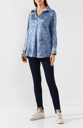 Женские джинсы PIETRO BRUNELLI синего цвета, арт. JPFH43/DE0084   Фото 2