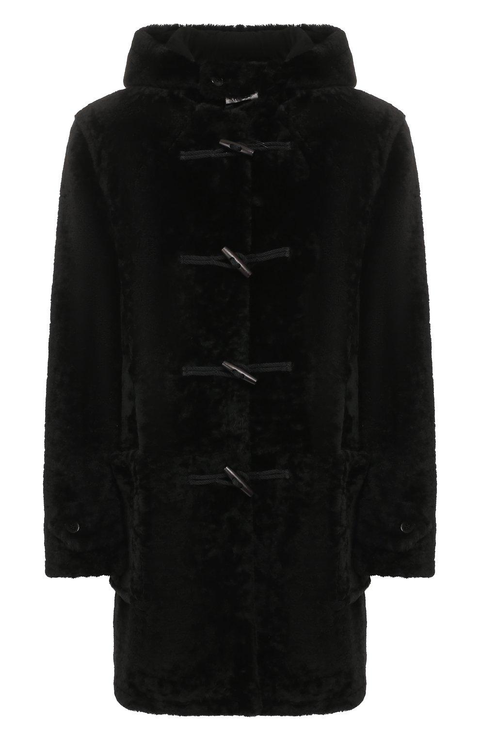 Женская дубленка SAINT LAURENT черного цвета, арт. 581116/Y7SJ2 | Фото 1
