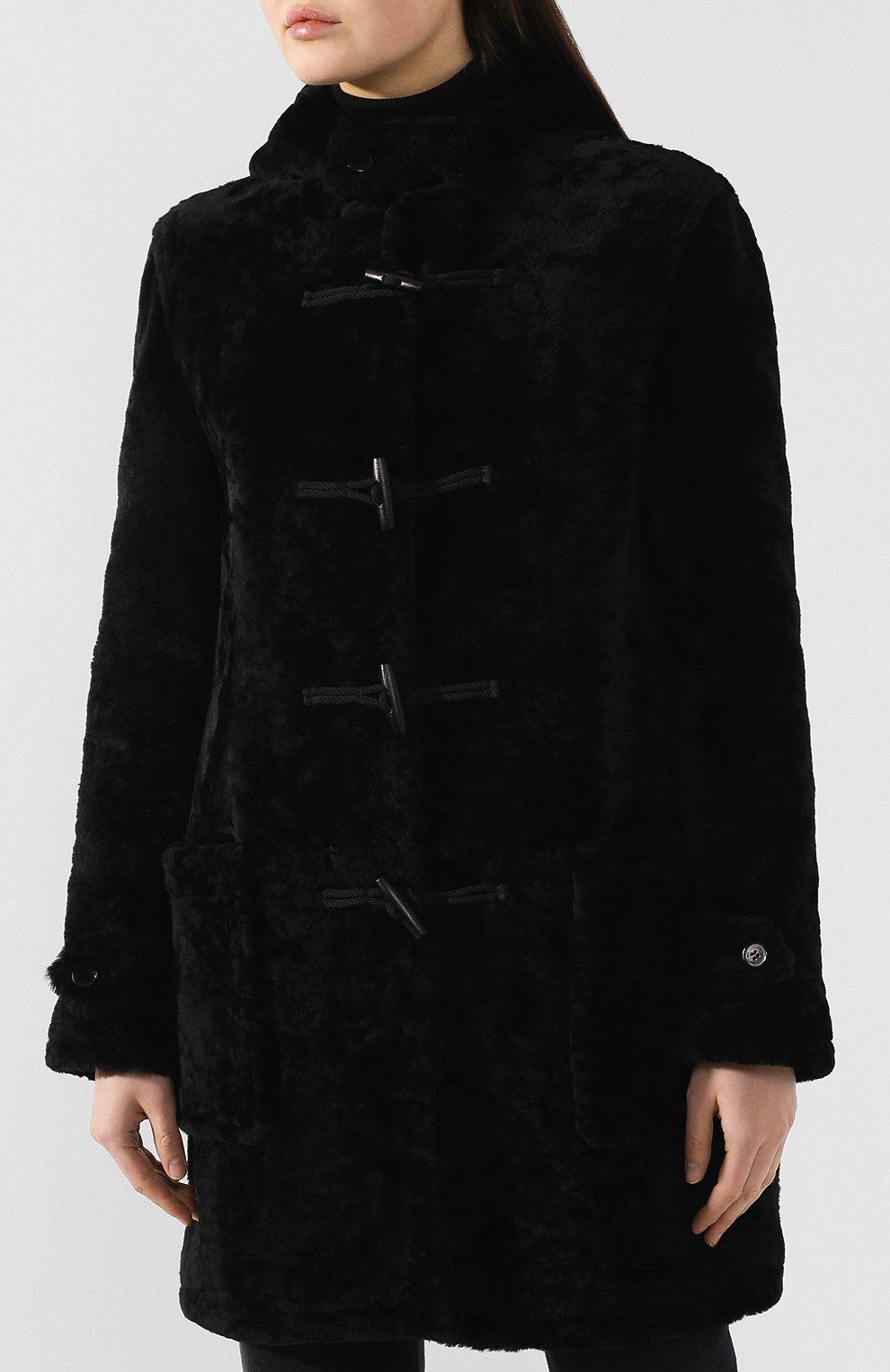 Женская дубленка SAINT LAURENT черного цвета, арт. 581116/Y7SJ2 | Фото 3