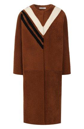 Женская меховое пальто INES&MARECHAL коричневого цвета, арт. FETARD | Фото 1