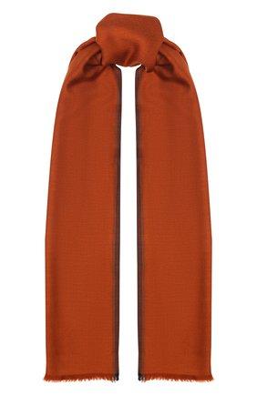 Мужской шарф из смеси кашемира и шелка ERMENEGILDO ZEGNA оранжевого цвета, арт. Z6L13/2LL | Фото 1