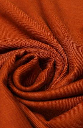 Мужской шарф из смеси кашемира и шелка ERMENEGILDO ZEGNA оранжевого цвета, арт. Z6L13/2LL | Фото 2