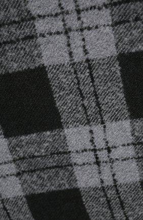 Мужской шарф из смеси шерсти и кашемира Z ZEGNA темно-серого цвета, арт. Z6L86/26H | Фото 2
