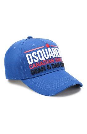 Мужской хлопковая бейсболка DSQUARED2 синего цвета, арт. BCM0227 05C00001 | Фото 1