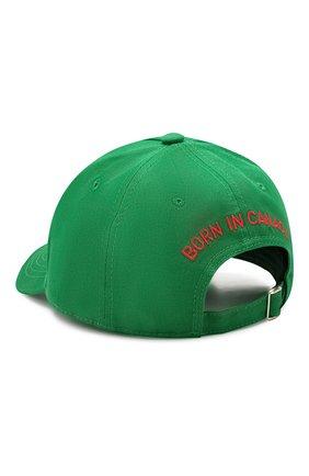Мужской хлопковая бейсболка DSQUARED2 зеленого цвета, арт. BCM0227 05C00001 | Фото 2