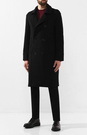 Мужской шерстяное пальто GIORGIO ARMANI черного цвета, арт. 9WG0L02Y/J002M   Фото 2