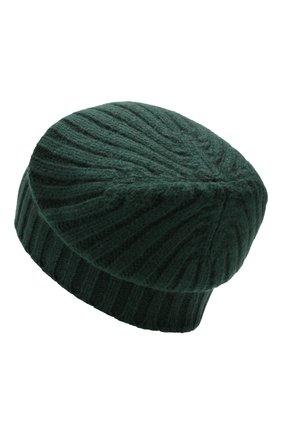 Мужская кашемировая шапка ALLUDE темно-зеленого цвета, арт. 195/60005 | Фото 2