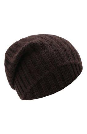 Мужская кашемировая шапка ALLUDE коричневого цвета, арт. 195/60005 | Фото 1