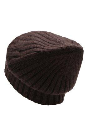 Мужская кашемировая шапка ALLUDE коричневого цвета, арт. 195/60005 | Фото 2