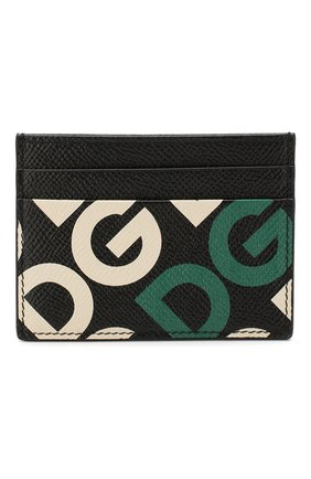 Мужской кожаный футляр для кредитных карт DOLCE & GABBANA зеленого цвета, арт. BP0330/AK443 | Фото 1