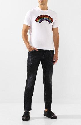 Мужская хлопковая футболка DSQUARED2 белого цвета, арт. S74GD0555/S22427 | Фото 2