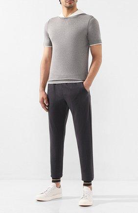 Мужской брюки из смеси шерсти и хлопка ELEVENTY UOMO серого цвета, арт. 979MA3135 JAC26056 | Фото 2