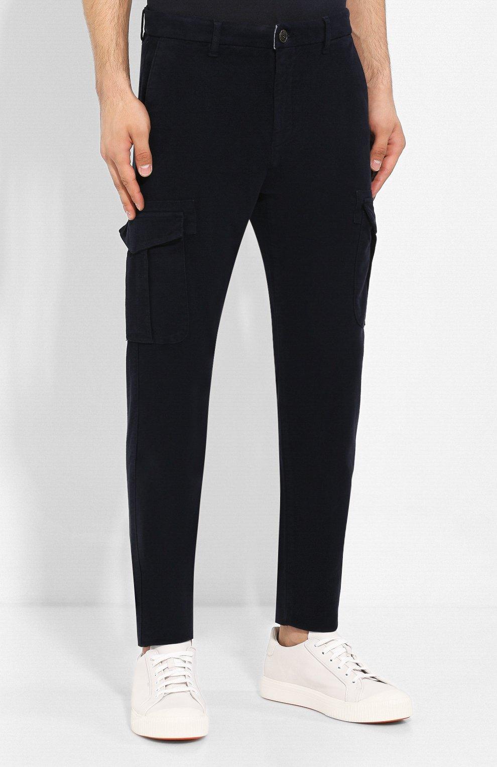 Хлопковые брюки-карго | Фото №3