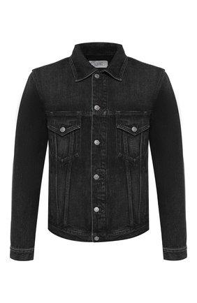 Мужская джинсовая куртка GIVENCHY черного цвета, арт. BM00CY50BG | Фото 1