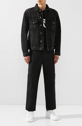 Мужская джинсовая куртка GIVENCHY черного цвета, арт. BM00CY50BG | Фото 2