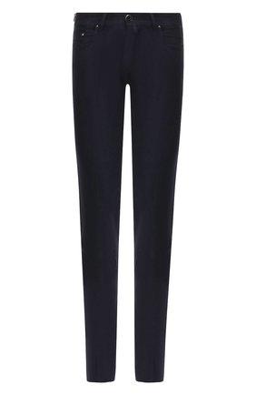 Мужские шерстяные брюки JACOB COHEN темно-синего цвета, арт. J688 W00L B 06968-N   Фото 1