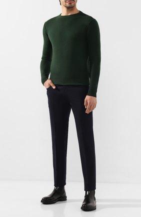 Мужские шерстяные брюки JACOB COHEN темно-синего цвета, арт. J688 W00L B 06968-N   Фото 2